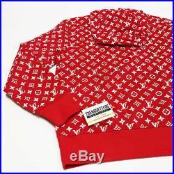 Louis Vuitton Supreme Box Logo Hoodie Authentic L Large Monogram L LV 1a3fbu
