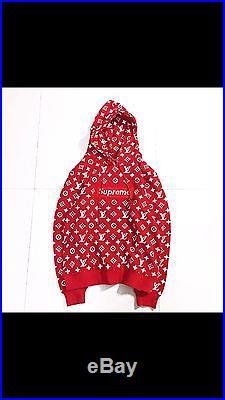 Louis Vuitton Supreme Red Box Logo Hoodie