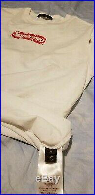 Louis Vuitton X Supreme LV Box Logo Shirt SIZE Medium Pre Owned 100% authentic