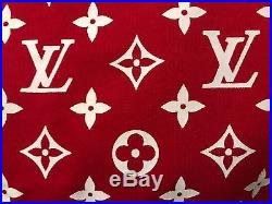 Louis Vuitton x SUPREME Red Hoodie All Over Monogram Box Logo 3L NWT