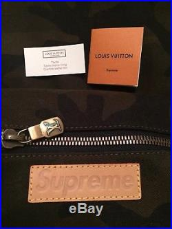 Louis Vuitton x Supreme Apollo Camo Backpack LV Monogram Box Logo Authentic
