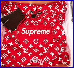 Louis Vuitton x Supreme Box Logo Hoodie