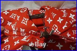 Louis Vuitton x Supreme Red Box Logo Hoodie Size 4L (XL)