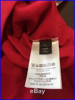 Louis Vuitton x Supreme Red Box Logo Hoodie in-hand Ready To Ship Sz L