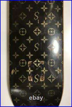 Louis Vuitton x Supreme Skateboard Box Logo Monogram Used Rare from Japan