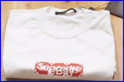 Louis Vuitton x Supreme White Box Logo T-Shirt sz M Large bogo LV monogram red