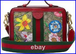 NEW GUCCI OPHIDIA GG SUPREME FLORA WEB SMALL SHOULDER CROSSBODY BAG WithBOX