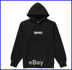 NEW NWT Supreme Bandana Box Logo Hoodie BOGO Black Size Medium FW19 M CONFIRMED
