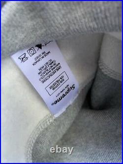 NEW Supreme Box Logo Bandana Hoodie Grey (size Large)