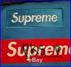 NEW Supreme Box Logo Crewneck SIZE LARGE Sweatshirt BRIGHT ROYAL Blue FW18 BoGo