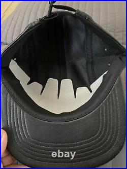 NEW Supreme Leather Camp Cap Ss13 5 6 Panel Black Bogo Box Logo