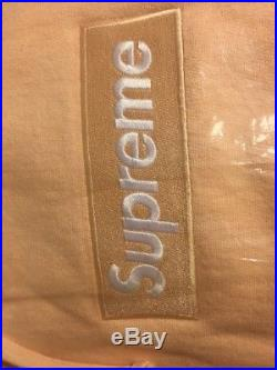 NEW Supreme Peach BOGO Logo Hooded Sweatshirt FW16 100% Authentic Box Logo Small