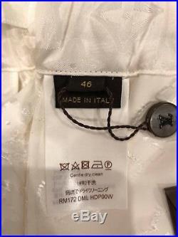 NWT Louis Vuitton X Supreme White Monogram Box Logo LV Pajama Track Pants XL 46