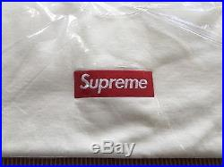 NWT SUPREME BOX LOGO CREWNECK SWEATSHIRT WHITE XL