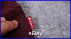 NWT SUPREME Box Logo Hoodie Sweatshirt Pullover Bogo Burgundy Vine Size L Large