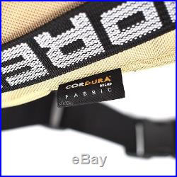 NWT Supreme NY Men's Tan Box Logo Cordura Waist Bag Fanny Pack SS18 DS AUTHENTIC