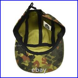 NWT Supreme NY Red Box Logo German Military Camo Camp Cap Hat SS19 DS AUTHENTIC