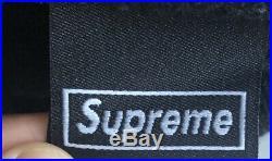 NWT Supreme New Era Box Logo Beanie Black World Famous Hat FW18 FW19