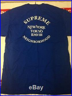 New Authentic Supreme x Neighborhood Box Logo Tee Large with Tags Deadstock