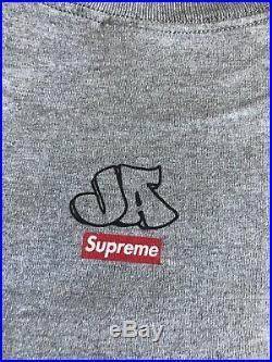 New Deadstock Vintage Supreme X Ja Box Logo Graffiti Grey XL T-shirt F/w 2008