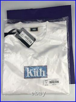 New Kith Mosaic Box Logo Tee T-Shirt Classic White Ronnie Fieg Supreme Size XS