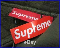 New SUPREME Box Logo Bogo Pullover Hoodie Sweater Olive Size XL Extra Large Tags