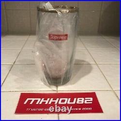 New Supreme Bar Glass Original Box Logo Cup Pint Gold Rim Fall Winter 2015 FW15