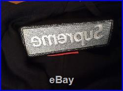 New Supreme Box Logo Hooded Sweatshirt Black Fw16sw6 Size Large Deadstock