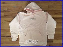 New Supreme Box Logo Hooded Sweatshirt Peach Fw16sw6 Size Large Deadstock