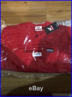 New Supreme Honda Fox Box Logo Crewneck Red M Medium In Hand Ready To Ship