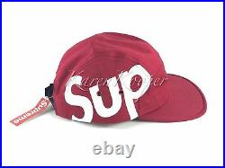 New with tags Supreme Sup Camp Cap Red 5 Panel Box Logo Hat FW 2013 Unworn Rare