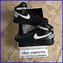 Nike Air Force 1 High Supreme Black Size 11.5 Box Logo HUF Acronym Presto