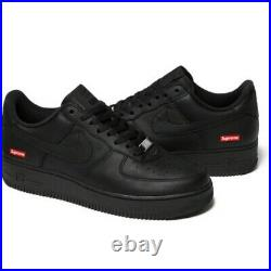 Nike Air Force 1 Low Supreme Black Box Logo CU9225001 Size 12 NEW DEADSTOCK