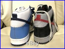 Nike Sample pair Dunk US 9 Jordan Supreme Off White Box Logo Air Force Vandal SB