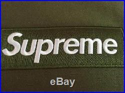 Olive Green Supreme Box Logo Hoodie