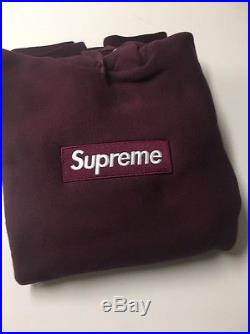 RARE Authentic Supreme Burgundy/Maroon FW11 Box Logo Hoodie