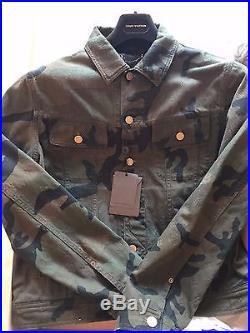 RARE LOUIS VUITTON x SUPREME Camo Denim Jacket Size 48 1A3FE6 monogram box logo
