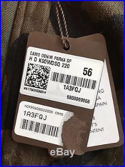 RARE LOUIS VUITTON x SUPREME Camo Denim Parka Size 56 1A3FQJ jacket box logo