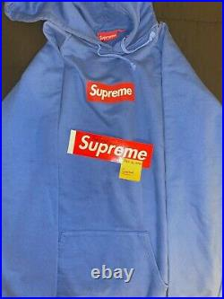 RARE (vintage) Supreme Box Logo Hoodie Red on Teal VNDS Authentic XL