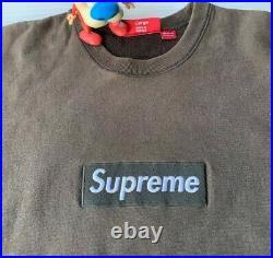 Rare 2005 Supreme Brown Box Logo Crewneck L Bogo 100% Authentic Bandana Tee CDG