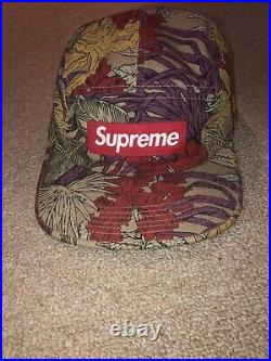 Rare Supreme Leaves Camp Cap Tan Ss11 2011 Hat Box Logo