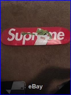 Red Supreme Kermit Box Logo Skateboard Skate Deck Terry Richardson Sealed