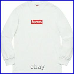 SHIPS TODAY! Supreme Box Logo Long Sleeve Tee White Size M BOGO 100% AUTHENTIC