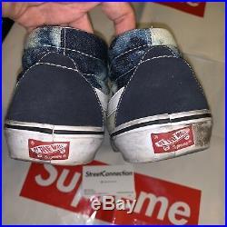 SS10 Supreme/Vans Bleached Sk8 Mid Hi Old Skool Blue Box Logo White Black Grey