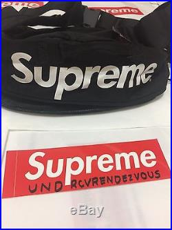SS17 SUPREME Waist Shoulder Bag Black Box Logo Messenger ASAP