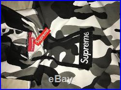 SUPREME 13 AW Box Logo Pullover Snow Camo BOX Logo Sweat Hoodie GRAY (LARGE)