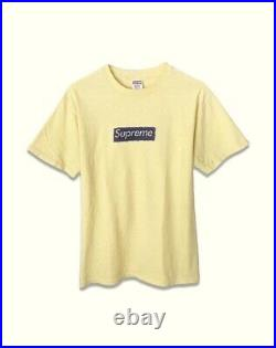 SUPREME 2003 Pen Box Logo Tee Molodkin BOX Logo T-shirt YELLOW M RARE AUTHENTIC