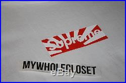 Supreme 2011 Japan Relief Box Logo Tee White Size Medium Great Condition