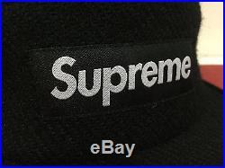 SUPREME 2015 F/W CDG BOX LOGO HARRIS TWEED CAMP CAP PCL HAT BLACK Motion New
