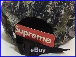 SUPREME 2015 F/W CDG BOX LOGO TRUE TIMBER CAMP CAP 5 PANEL PCL HAT WOODLAND CAMO